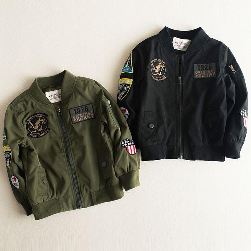 51523ba0c92a 2017 Spring Autumn Jackets For Boy Coat Bomber Jacket Boy S ...