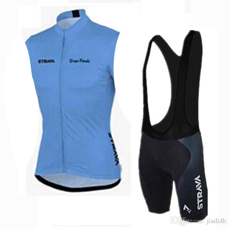 STRAVA equipo Cycling Short Sleeves jersey bib pantalones cortos Conjunto de bicicleta al aire libre conjunto fresco y cómodo verano transpirable c2413