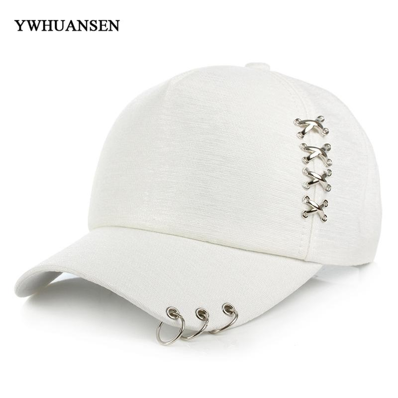 d230573b93f YWHUANSEN 2018 New Creative Piercing Ring Baseball Cap Fashion Trend Couple  Casual Caps Unisex Solid Adjustable Snapback Hats Skull Caps Men Hats From  ...