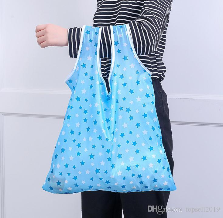 Newest Home Storage Nylon Foldable Shopping Bags Reusable Eco-Friendly folding Bag Shopping Bags new Ladies Storage Bags SN229