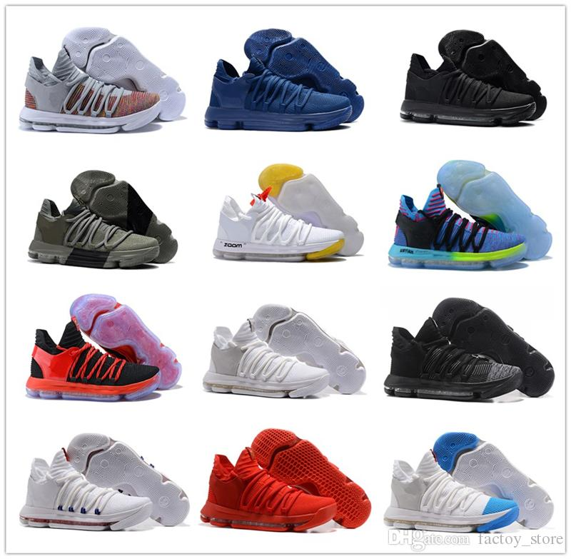 f9b55682e7c 2018 Correct Version KD 10 EP Basketball Shoes For Top Quality Kevin Durant  X Kds 10s Rainbow Wolf Grey KD10 FMVP Sports Sneakers USA 7 12 Cool  Basketball ...