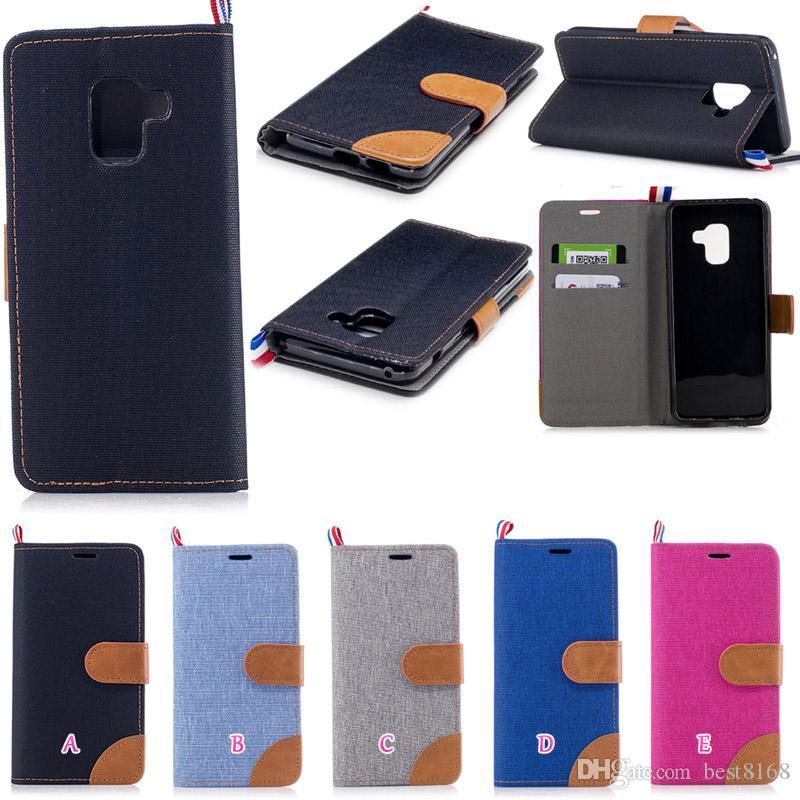 36ebfbb201f Accesorios De Moviles Funda De Cuero Jean Para Galaxy S9 Plus J4 J6 ...