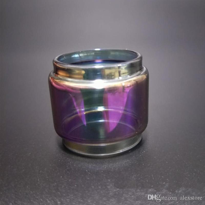 Estendido Bulb Pyrex arco-íris cor de substituição de gordura tubo de vidro para príncipe Resa TFV8 bebê grande Zeus X-baby Vape Pen 22 mais Atomizador DHL