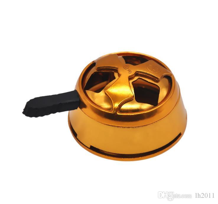 Hookah carbon stove fittings, local Hao gold carbon stove, hookah accessories gold