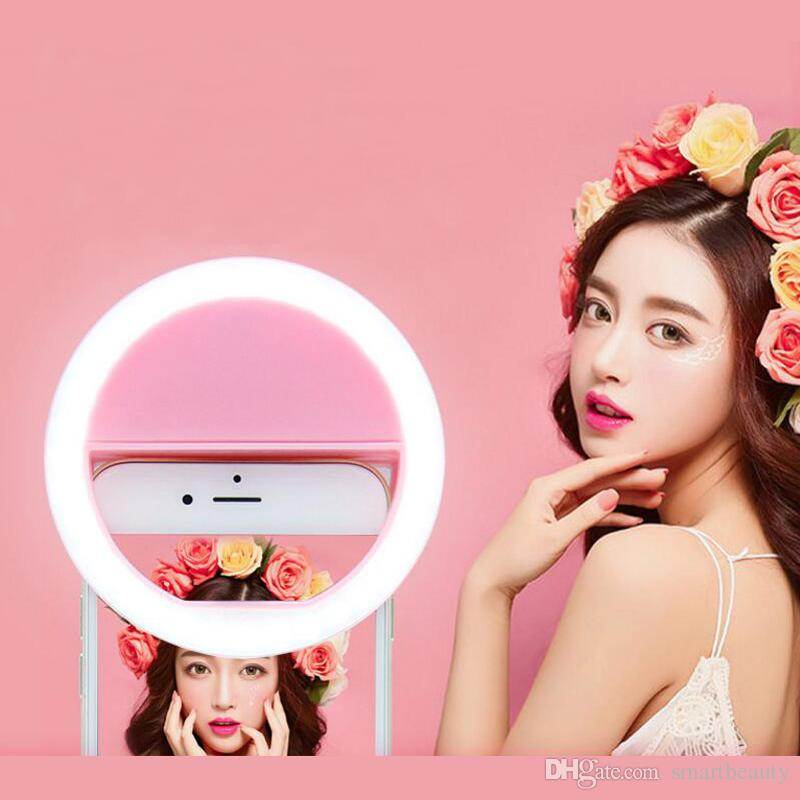 Selfie Portable LED Selfie Flash Light Brightness Adjustable Clip-on Phones Camera Photography Luminous Ring Light Lamp