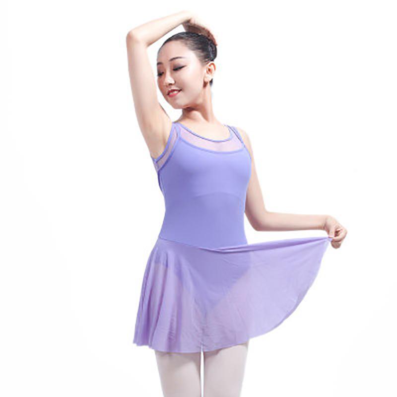 4d4b4c427 Backless Ballet Leotards With Skirt For Women Girls Sleeveless ...