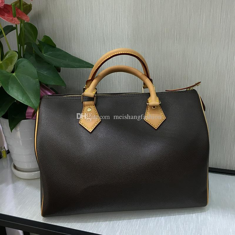 Brand new Top quality Lady Real oxidizing Leather speeds 25cm 30cm 35cm handbag with shoulder strap purse tote bag