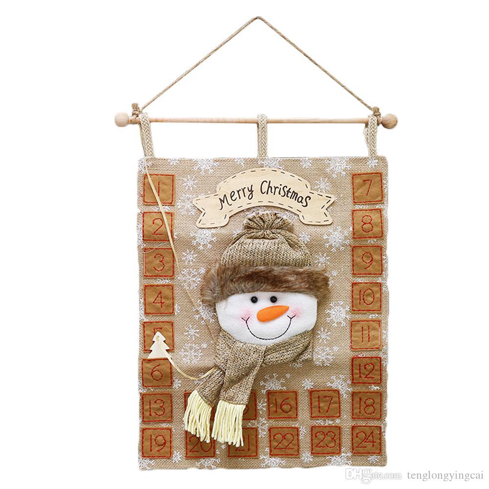 Weihnachtskalender Büro.Countdown Zum Weihnachtskalender Stoff Krippe Adventskalender Weihnachtsdekoration Weihnachtsdekor Thema Für Zuhause Oder Im Büro Hängen