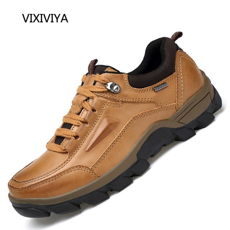 025cf290194 Compre Zapatos De Los Hombres Ocasionales De Cuero Genuino Otoño Invierno  Transpirable Zapatos De Plataforma Para Hombres Urbanos Jóvenes Desgaste ...