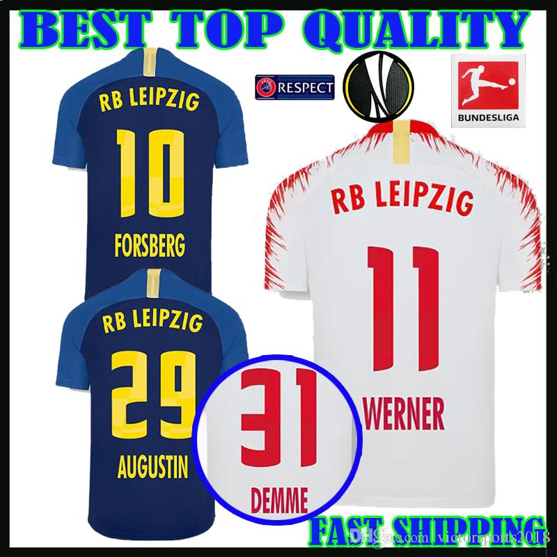 18 19 Leipzig Rb Soccer Jersey Home Away 2018 2019 Europa League WERNER  POULSEN FORSBERG BRUMA AUGUSTIN DEMME Football Shirts Top Quality UK 2019  From ... 872e53a3c