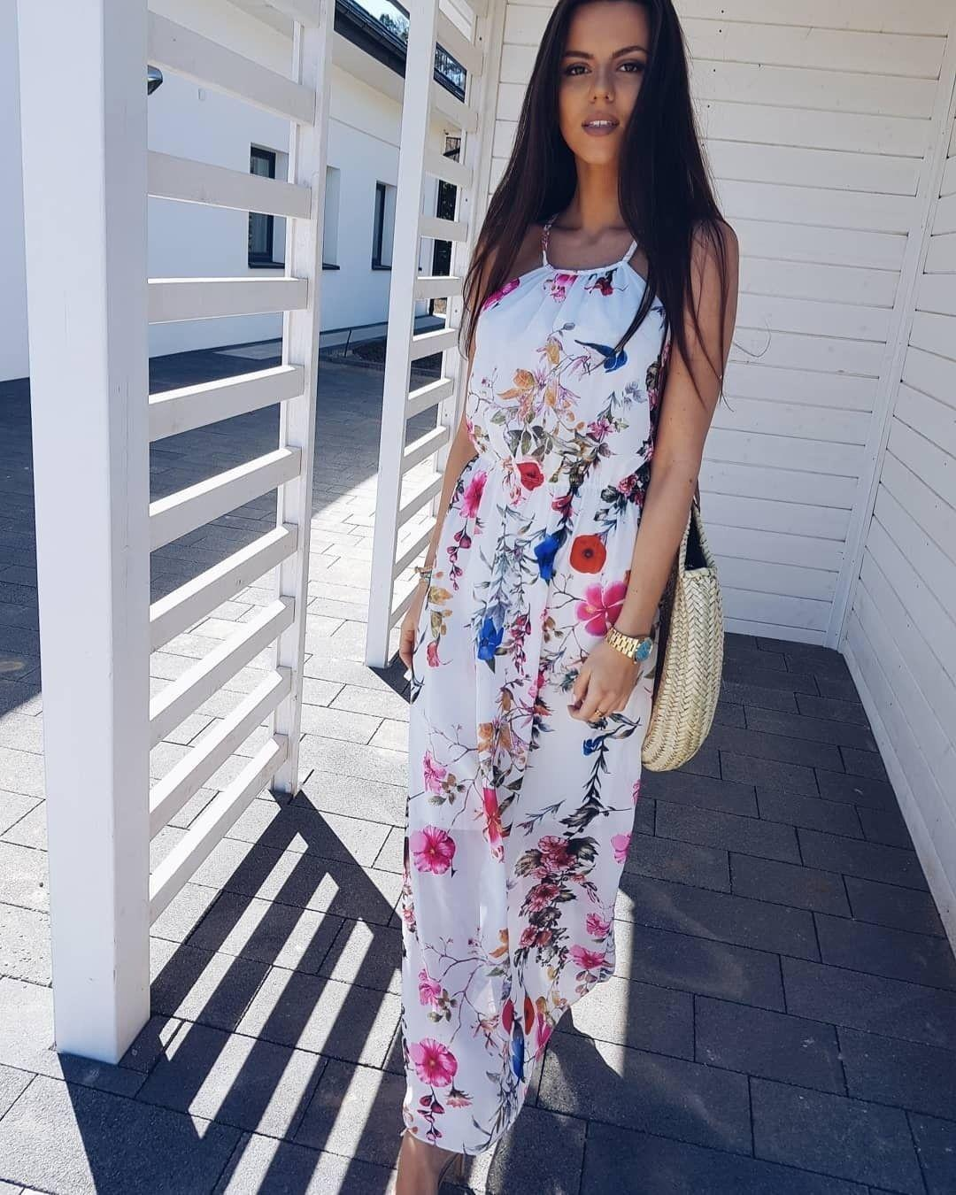 6e8fe1dabc8a Stylish Women Boho Floral Dress Summer Beach Sleeveless Evening Party Long  Maxi Dress Bohemian Beach Dress Purple Dresses For Juniors Party Cocktail  Dresses ...
