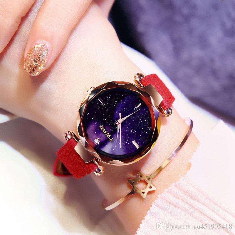 3ac9516507c Compre Mulheres Assistir Exquisite Top De Luxo Diamante De Quartzo Das  Senhoras Relógio De Moda Relógio De Pulso Do Relógio De Pulso De Couro  Mulheres ...