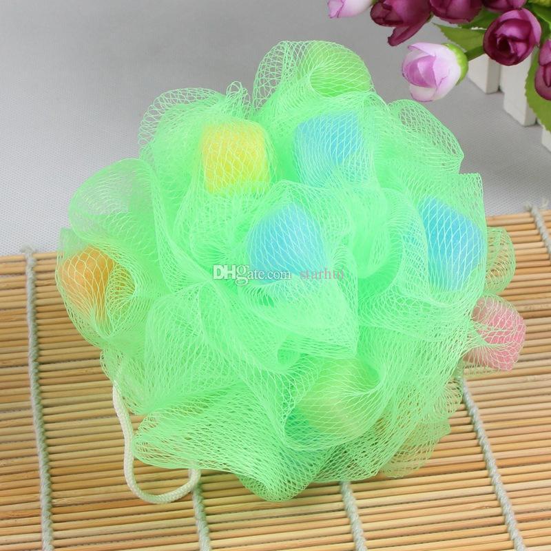 Sponges PE Bath Ball Shower Body Bubble Exfoliate Puff Sponge Mesh Net Ball Cleaning Bathroom Accessories Home Supplies Free DHL WX9-445