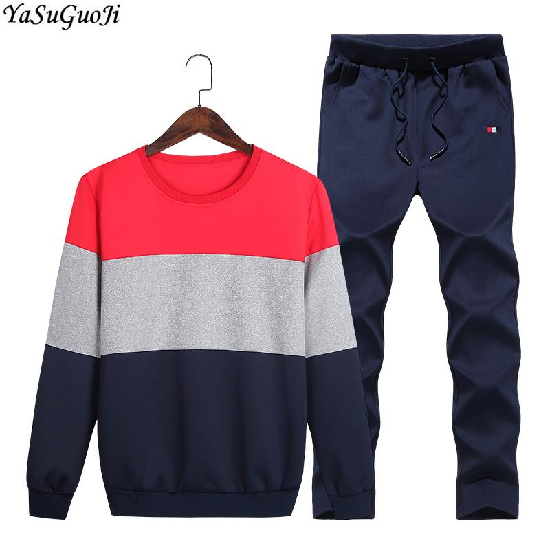 Home Objective 2019 New Men Clothing Tracksuit Set Mens Set Spring Autumn Men Sportswear 2 Piece Set Sporting Suit Jacket+pant Sweatsuit