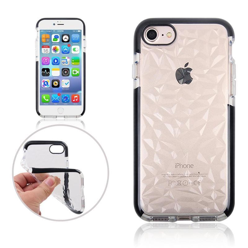 28c71b865f7 Carcasas Para Celulares Para IPhone XS Max Funda De TPU Suave Para IPhone  XR Diamond Para IPhone X 7 8 Plus Cubierta Transparente / Up Fundas Para  Movil Por ...
