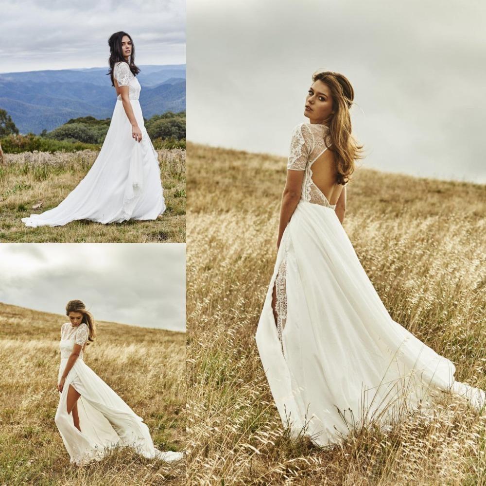 9e8b15ebcf16 Short Bohemian Beach Wedding Dresses - Aztec Stone and Reclamations