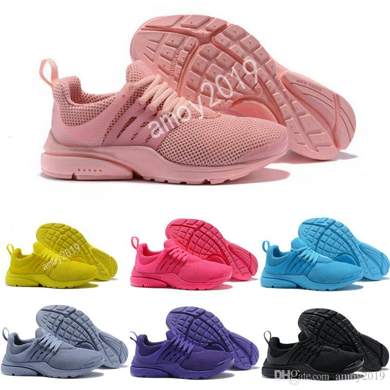 1bb8a0bdf913 2018 Presto Running Shoes Men Fly BR QS Yellow Prestos Pink Oreo Outdoor  Jogging Air Sole Mens Womens Trainers Sports Sneakers Size 5 12 Jogging  Shoes Sale ...