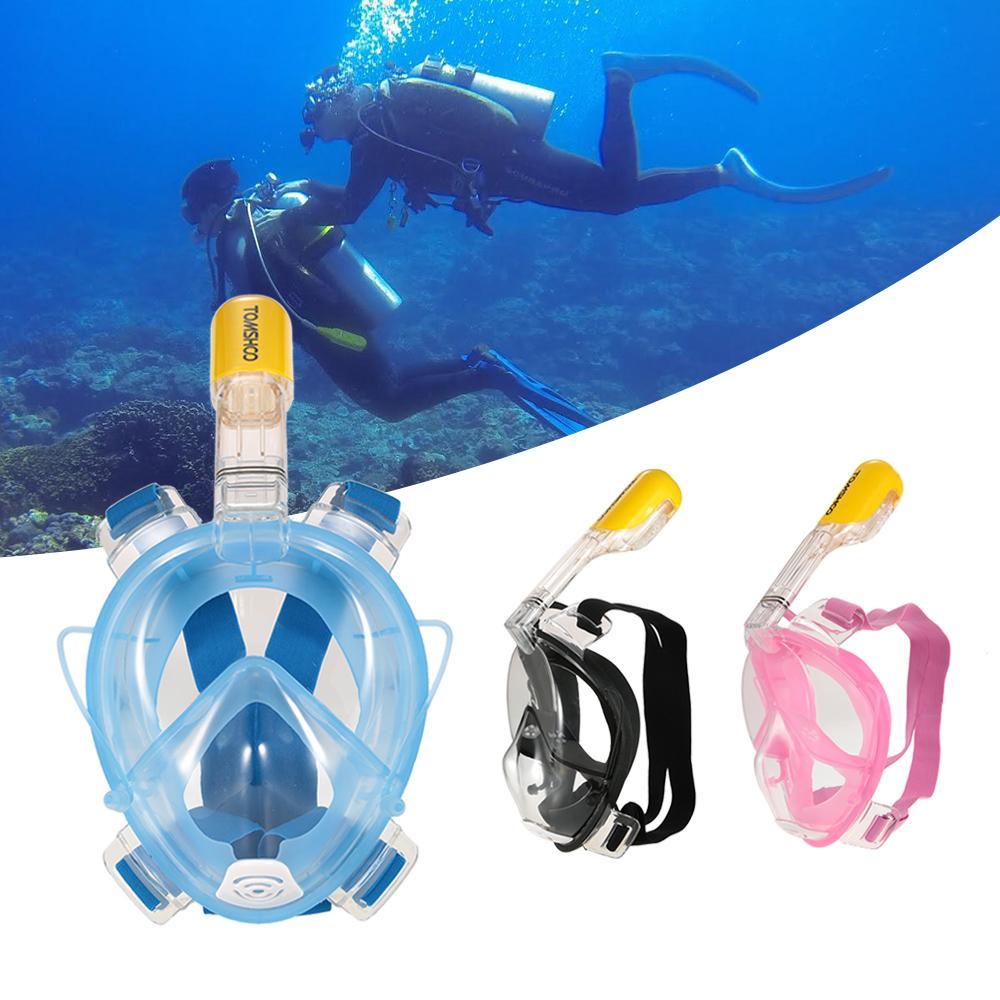 3959ec3b3 Compre Frete Grátis Máscara De Mergulho Tomshoo Máscara De Mergulho  Subaquática Anti Fog Máscara Facial Snorkeling Natação Mergulho  Equipamentos Com Suporte ...