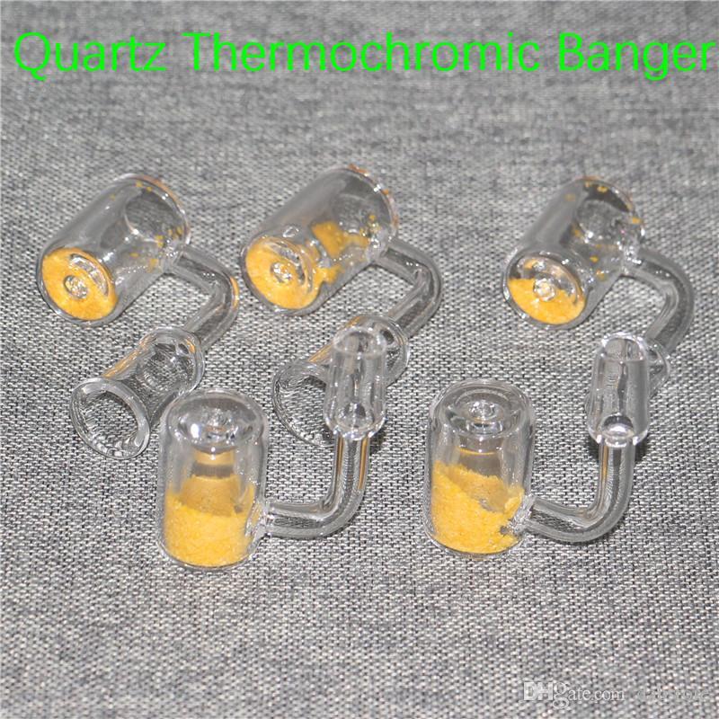 Cuarzo Termocromático Bucket Banger Nail Domeless Banger Nails Uñas 10mm 14mm 18mm Hombre Mujer 25mm OD Colorido Para Vidrio Bongs Plataformas Petroleras