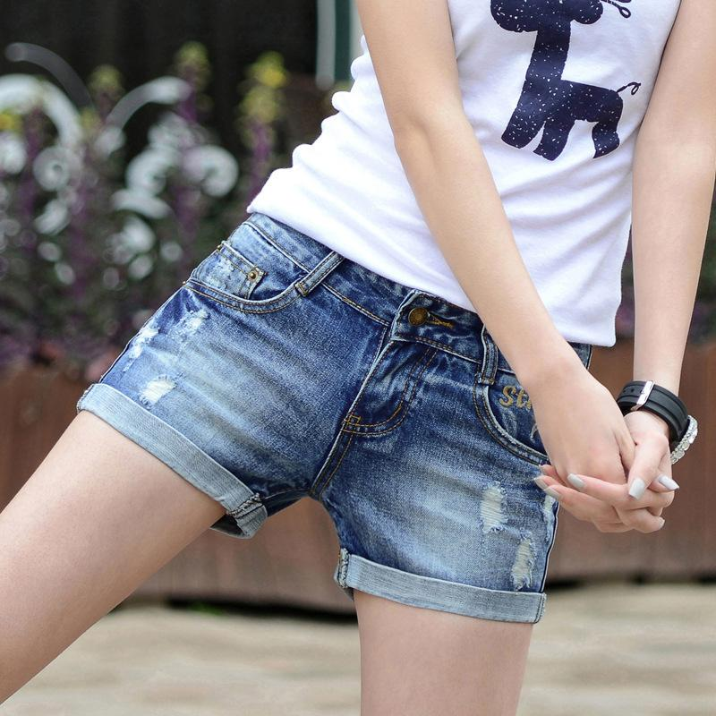 c6a27e703 2019 2017 Summer Shorts Women Hole Jean Shorts Fashion Style Slim Thin  Cotton Denim Jeans Casual Ladies Short Trousers Hot From Hongkonglady, ...