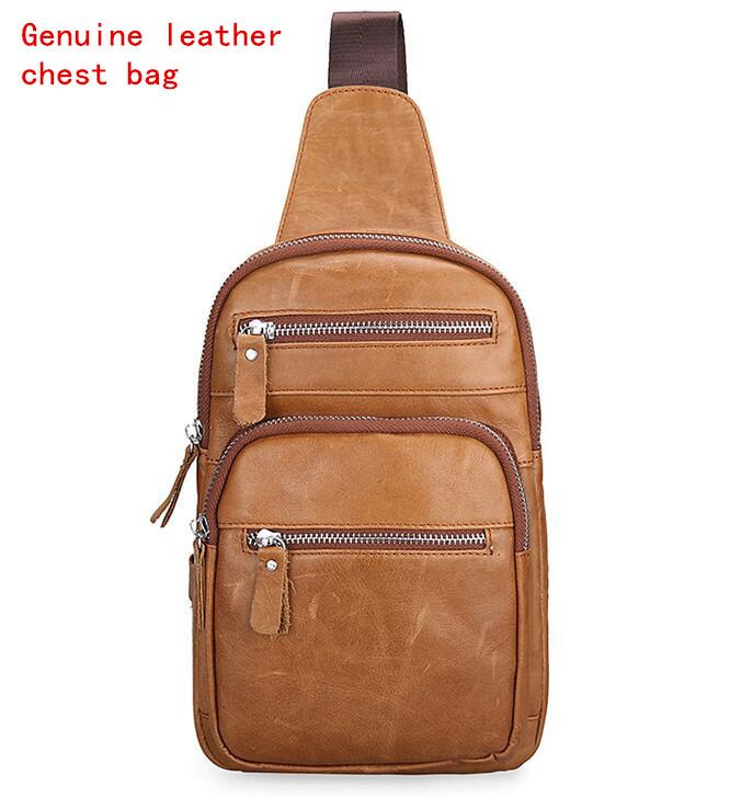 bfc811810f Factory Brand Men Bag Retro Crazy Horse Leather Crossbody Shoulder Baotou Cowhide  Men Wear Leather Riding Package Outdoor Leisure Chest Pac Duffle Bags ...