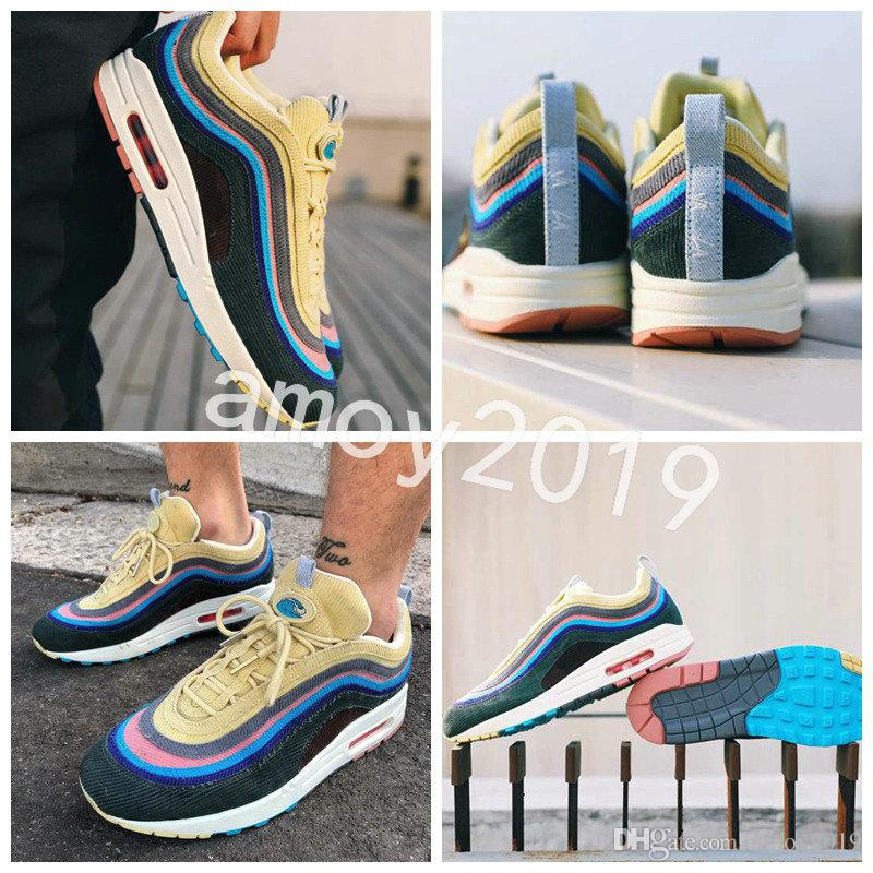 2018 Release Sean Wotherspoon x 97 VF SW Hybrid Men Women Running Shoes M 97s Multicolor Mens Woman Trainers 97 Sports Sneakers 36-46 clearance ebay outlet authentic 4zSW9l1Y