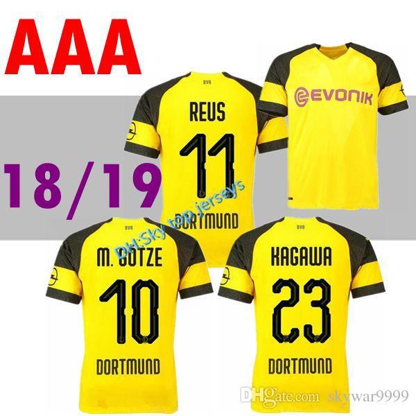 TOP THAI GOTZE Jerseys Home Yellow 2018 19 Gelbes Trikot DEMBELE ... a477c3e2a