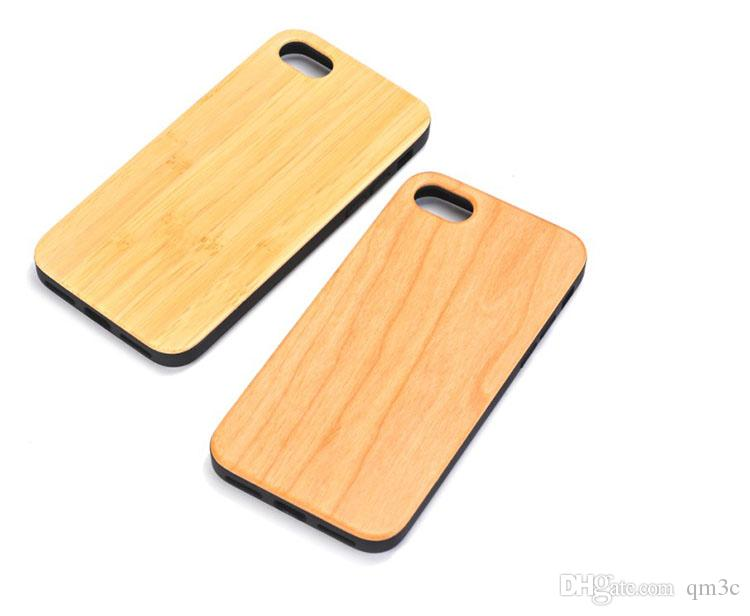 Cheap Wholesale Cell Phone Accessories Bamboo TPU Case For Iphone 7 8 plus X 6 6s 5s Natural Wood Phone Cover Wooden Cases For Samsung S9 S8