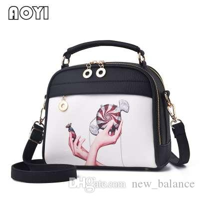 b478bf73fa1 AOYI Women Shoulder Bag Messenger Crossbody Bags Fashion Print Beach Bag  Evening PU Leather Clutch Bag for Lady Girls Handbag Ladies Shoulder Bag  Luxury ...