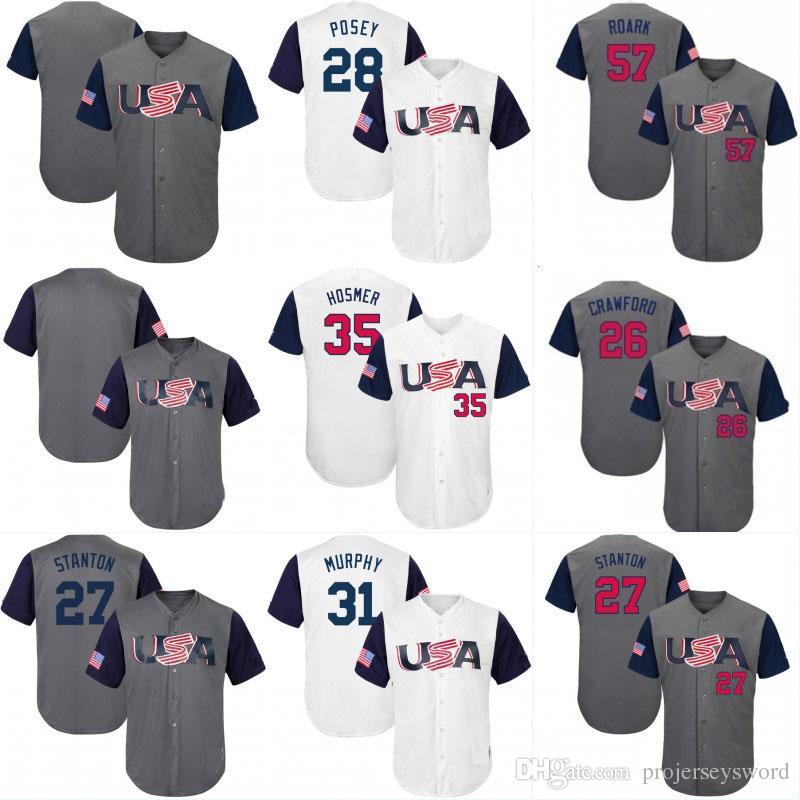 8e980729f 2017 USA World Baseball Classic WBC Jersey 10 Adam Jones 27 ...