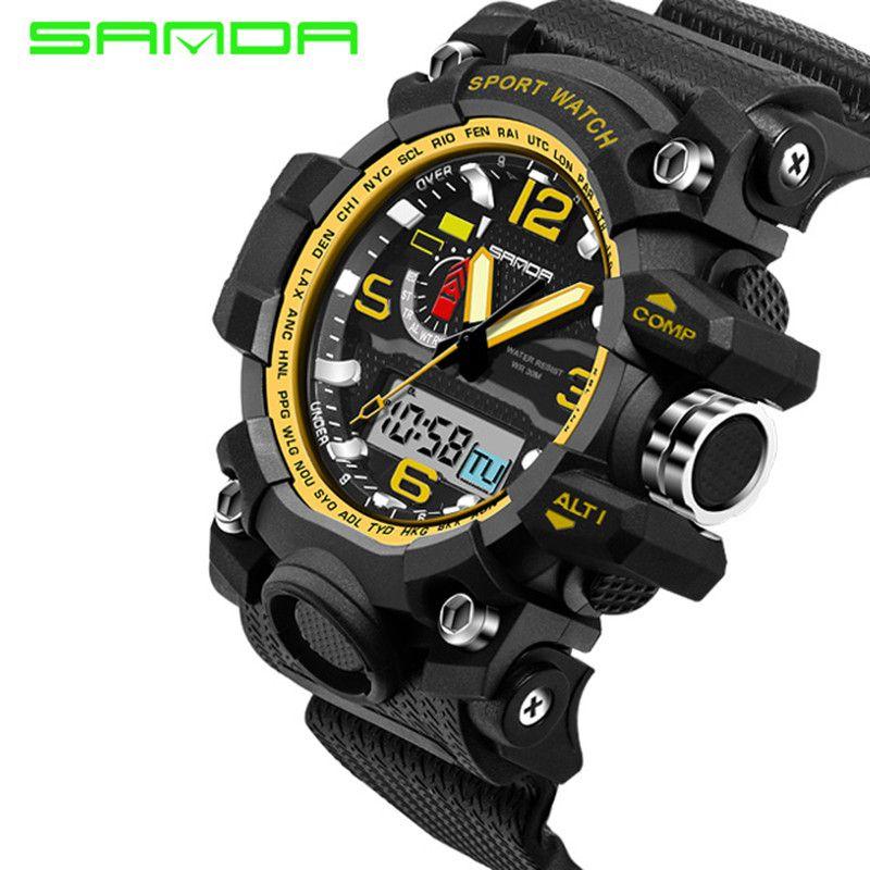2018 Neue Marke Sanda Uhr Männer Military Sportuhren Fashion Silikon Wasserdichte Led Digital Uhr Für Männer Uhr Reloj Hombre Uhren