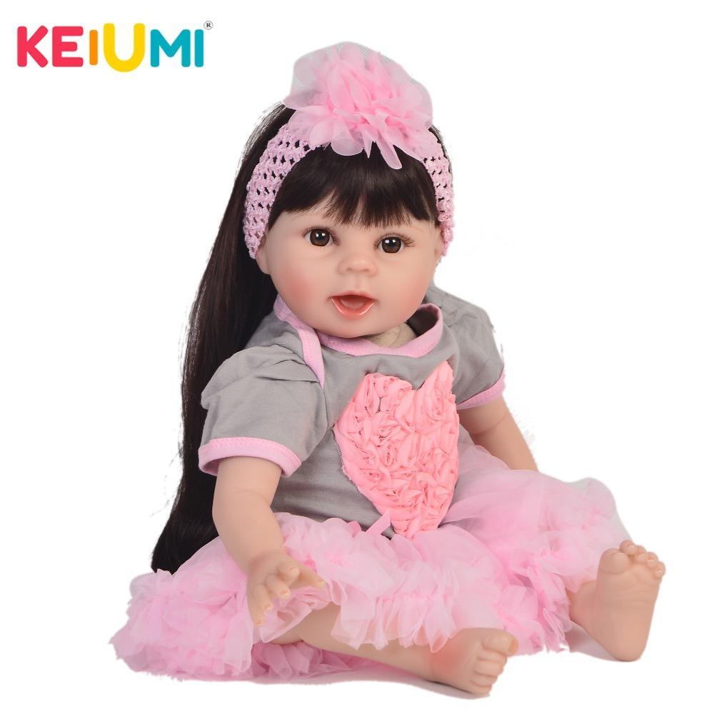 767557089 Compre KEIUMI Coleção 22 '' Silicone Macio Reborn Menina Do Bebê Boneca 55  Cm Real Como Princesa Brinquedos Para As Crianças Presentes De Qwinner, ...