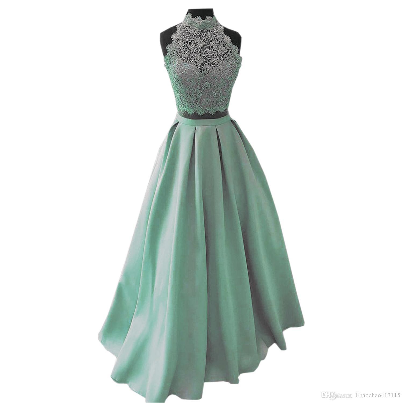 Stück Art Kleid De Weise 2018 Länge Fußboden Partei Lange Reizvolles Kleidet Soiree Zwei Abend Abschlussball Und Kleider Robe Hellblaues CWxBrdoe