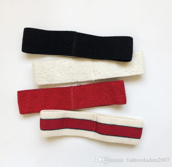 Designer Elastic Headband para As Mulheres e Homens Melhor Qualidade Verde e Vermelho Listrado Faixas de Cabelo Head Scarf Para Crianças Headwraps presentes