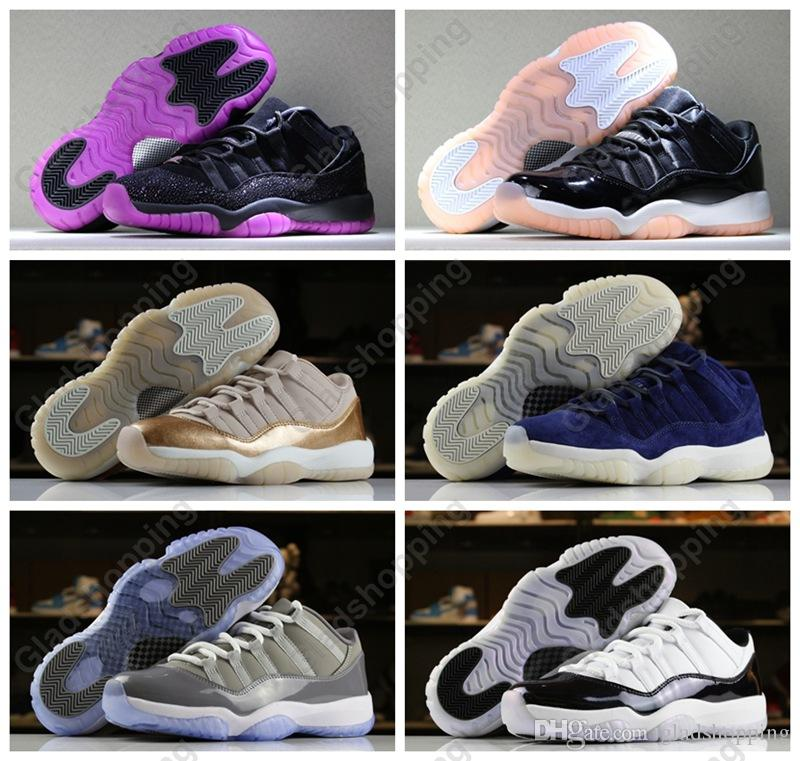 3bd4064c668 New 2018 11 Low Rose Gold Rook To Queen Bleached Coral Women Mens  Basketball Shoes Sneakers 11s Cool Grey RE2PECT Iridescent Easter Trainers  Carmelo Anthony ...