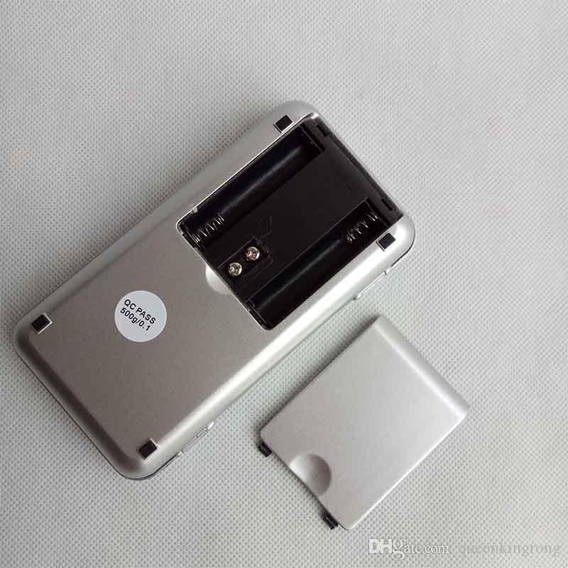 La mini joyería digital electrónica del diamante de la escala pesa las escalas de la exhibición del LCD del gramo del bolsillo de la balanza con la caja al por menor 500g / 0.1g 200g / 0.01g