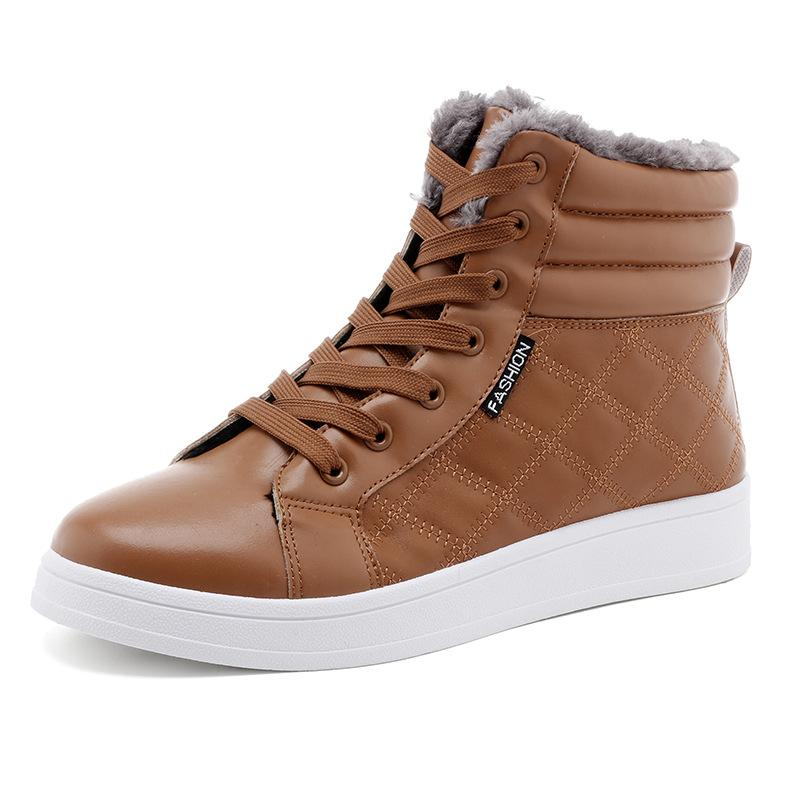 dfa50aa85f89 Acheter Vintage Haut Haut Chaud Chaussures D'hiver Pour Les Hommes De  Bottes De Neige Avec La Cheville En Bottes Martin Bottes Homme Chaussures  De Travail ...