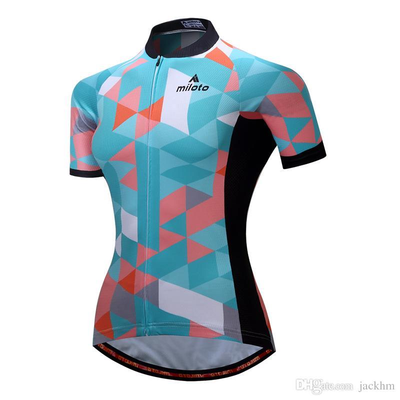 df13266f1 High Quality MILOTO Women Cycling Jersey Tops Summer Racing Cycling  Clothing Ropa Ciclismo Short Sleeve Mtb Bike Jersey Shirt Maillot Ciclis  Cycling ...