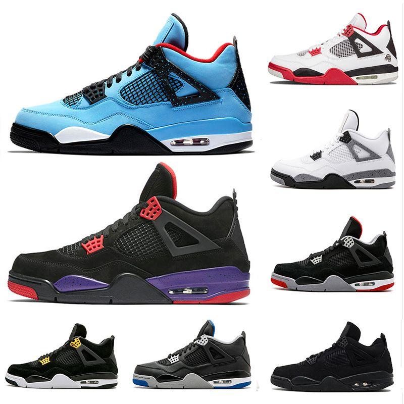 13b4483b6b 2018 Jumpman 4 4s Travis Houston Basketball Shoes men Pure Money Royalty  White Cement Raptors Black cat Bred Fire Red mens Sports Sneakers