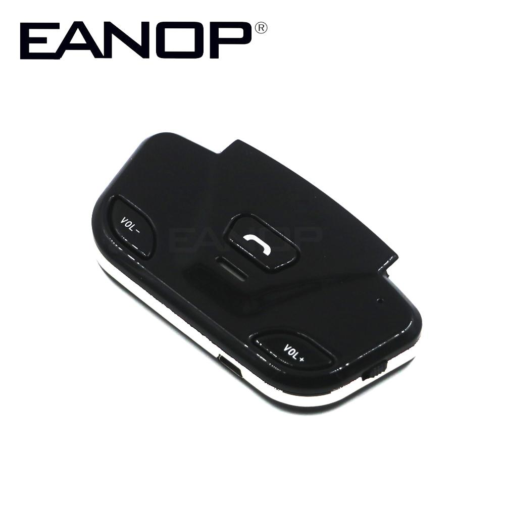 EANOP Steering Wheel hands free car wireless - bluetooth car kit with  Speaker Mic phone Connect 2 Mobile Phone