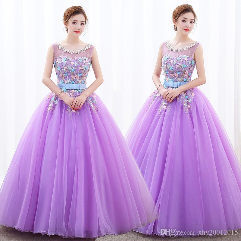 Bonito Vestidos Violeta Prom Ideas Ornamento Elaboración Festooning ...