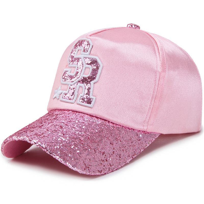 f36651b604f New Luxury Irls Cap Fashion Bling Glitter Baseball Cap Pop Women ...