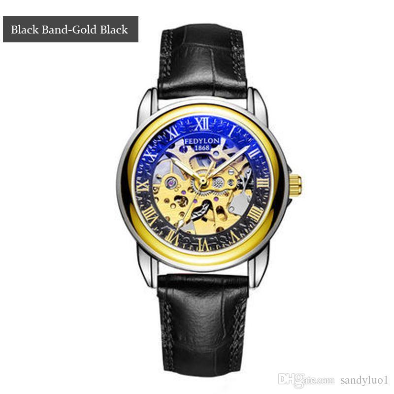e0daf8a2f159 Compre 2018 Nuevo Reloj Para Hombre Relojes De Lujo Para Hombre Reloj De  Cuarzo Para Hombre Automático De Cuero Banda Hombres Reloj De Pulsera Envío  Gratis ...