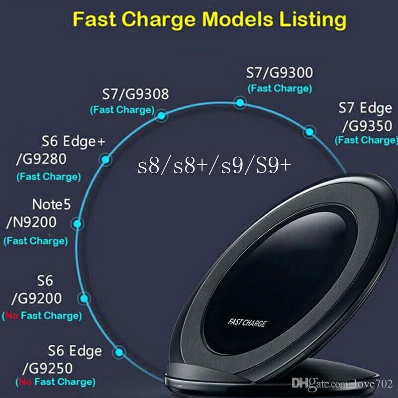 Samsung Fast Wireless Charger QI Wireless Supporto supporto di ricarica Samsung Galaxy s7 eS7 Edge S6 Edge Plus Nota 5 samsung s8 s8 +