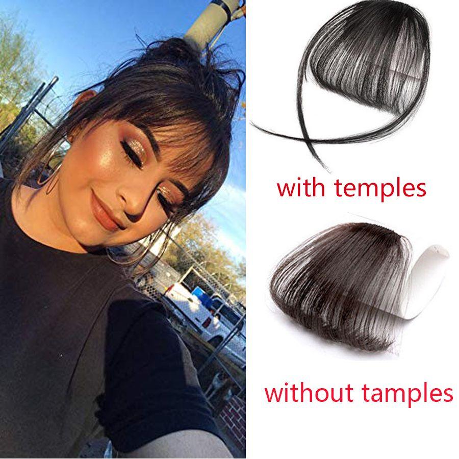 Hot 4 Colors Hair Bang Fringe Pretty Girls Clip On Clip In Front Hair Bang Fringe Hair Extension Piece Thin Hair Care Braiders