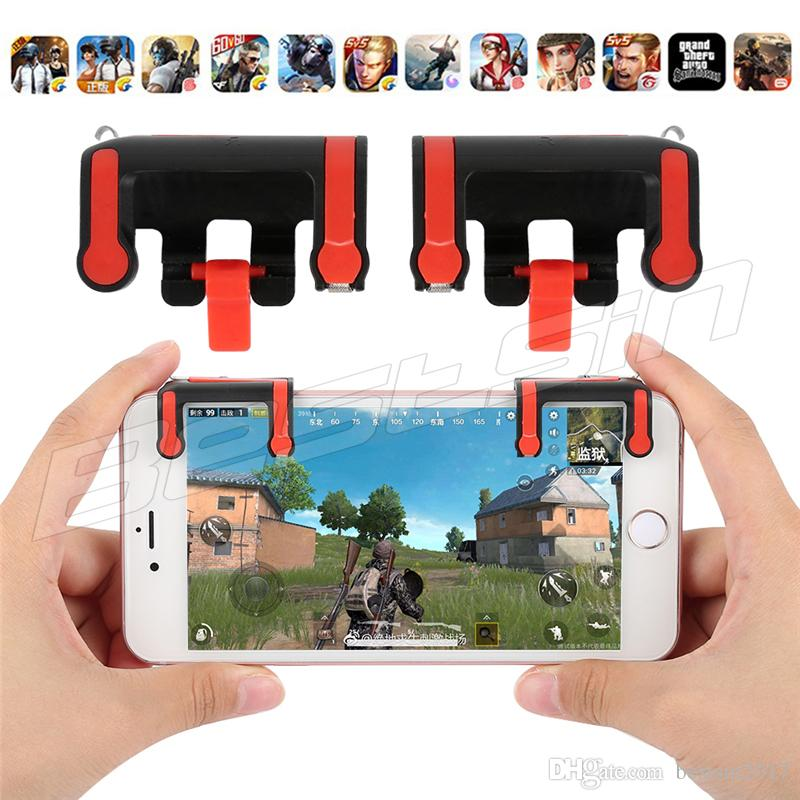 New Phone Gamepad Trigger Phone Gaming Handle Mx Mobile Game Fire Button Aim Key Lr Shooter Controller Pubg Fut From Bestsin Dhgate Com