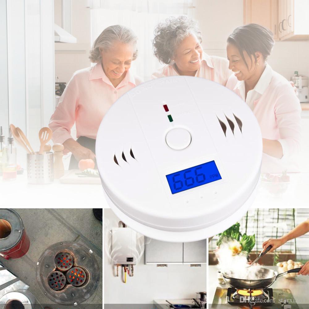 Detector de monóxido de carbono CO Detector de sensor de advertencia de alarma Detectores de envenenamiento por incendio de gas Pantalla LCD Vigilancia de seguridad Alarmas de seguridad en el hogar