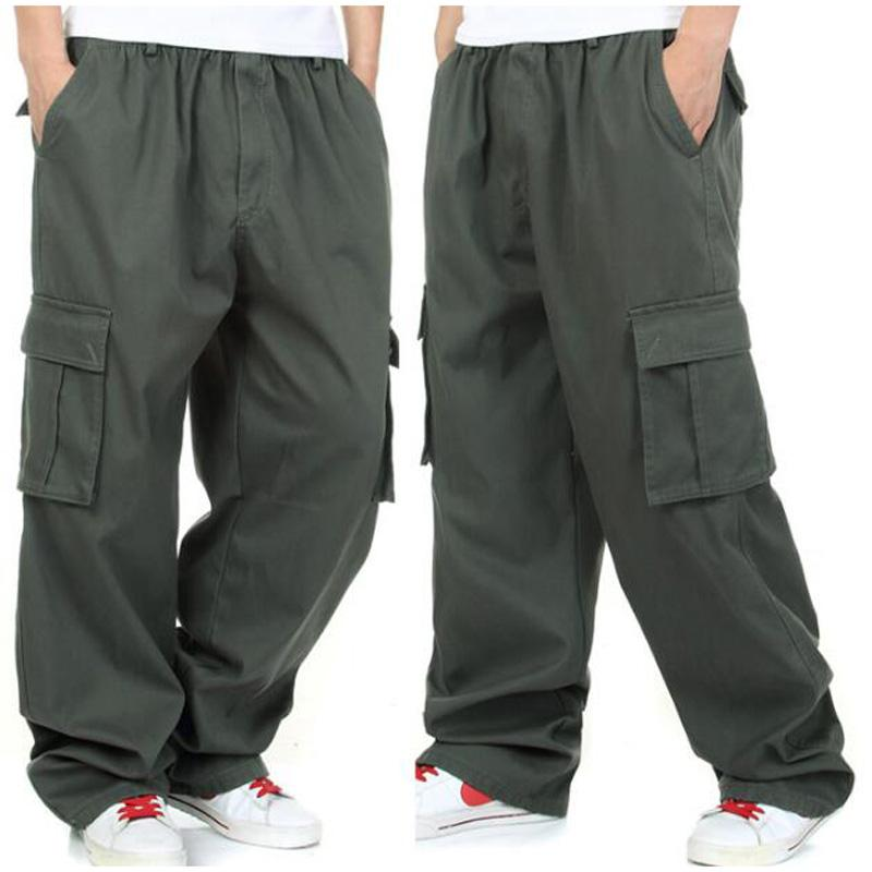 New arrival Autumn winter male trousers overalls pants men's plus size loose baggy hip hop pants