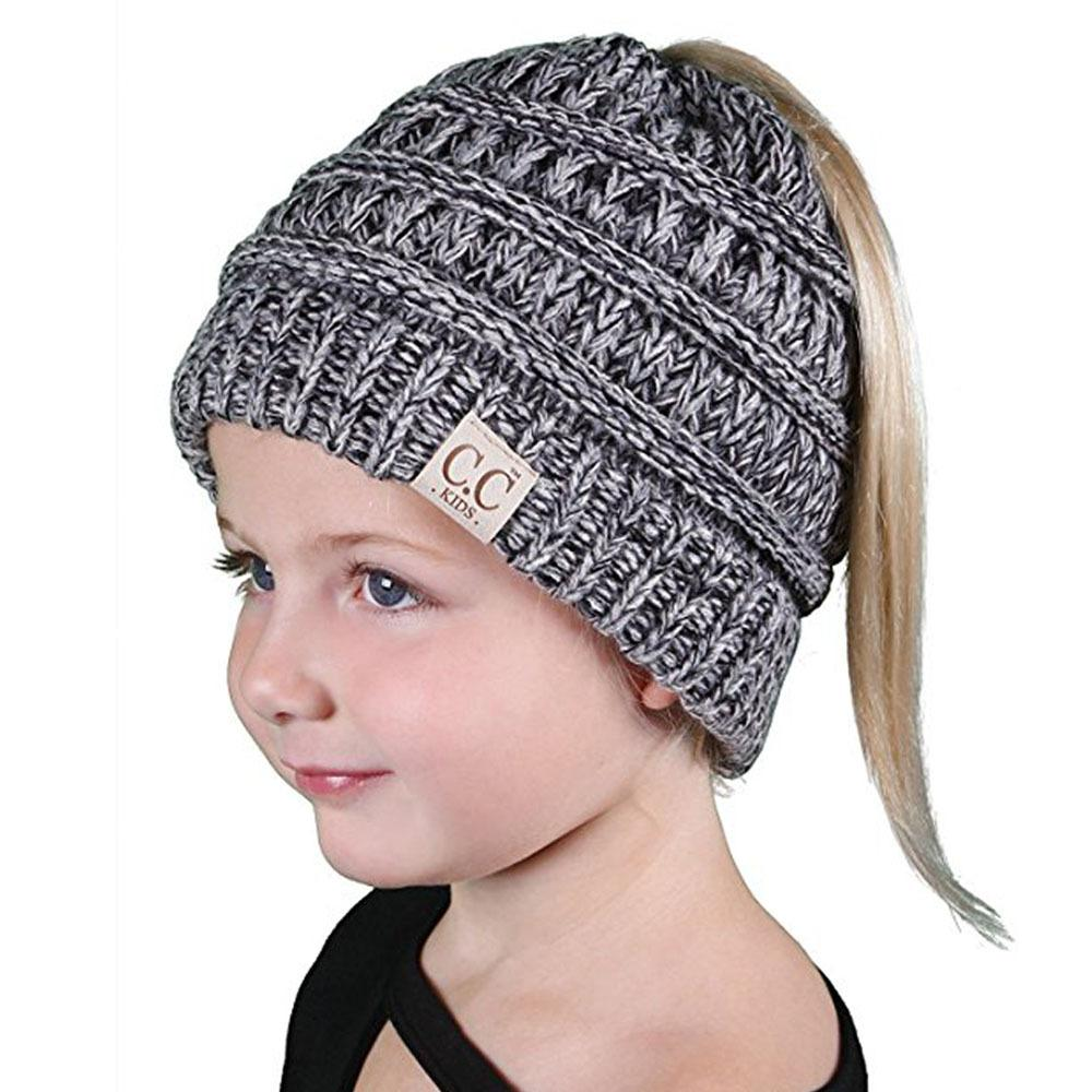 2019 Winter Hats For Kids CC Beanie Warm Hat Knit Beanies Slouchy Hats For  Girls Cute Boys Knitted Skullies Cap Children Baggy Caps From Newhappyness faa40948a89