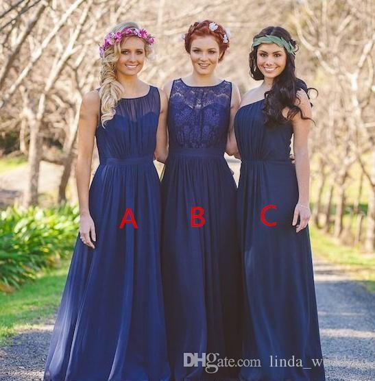 80bd63c96daa 2018 Summer Spring Bridesmaid Dress Royal Blue Country Beach Garden Formal  Wedding Party Guest Maid Of Honor Gown Plus Size Custom Made Wine Bridesmaid  ...